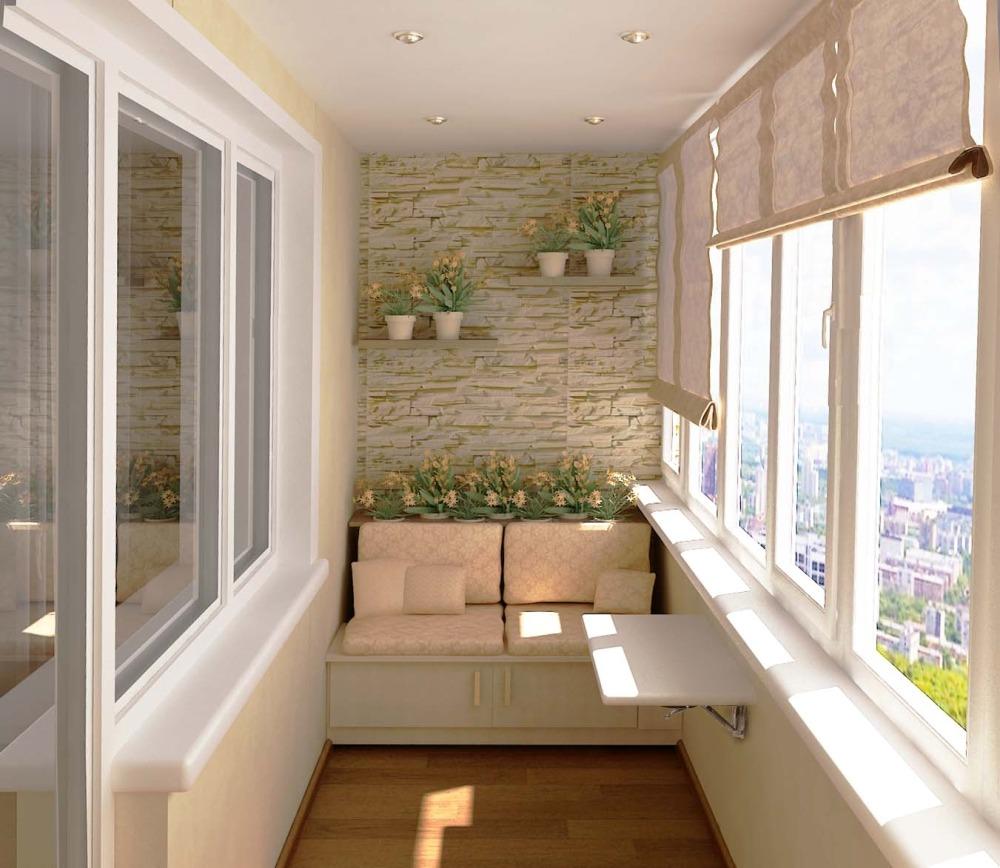 Отделанные балконы дизайн