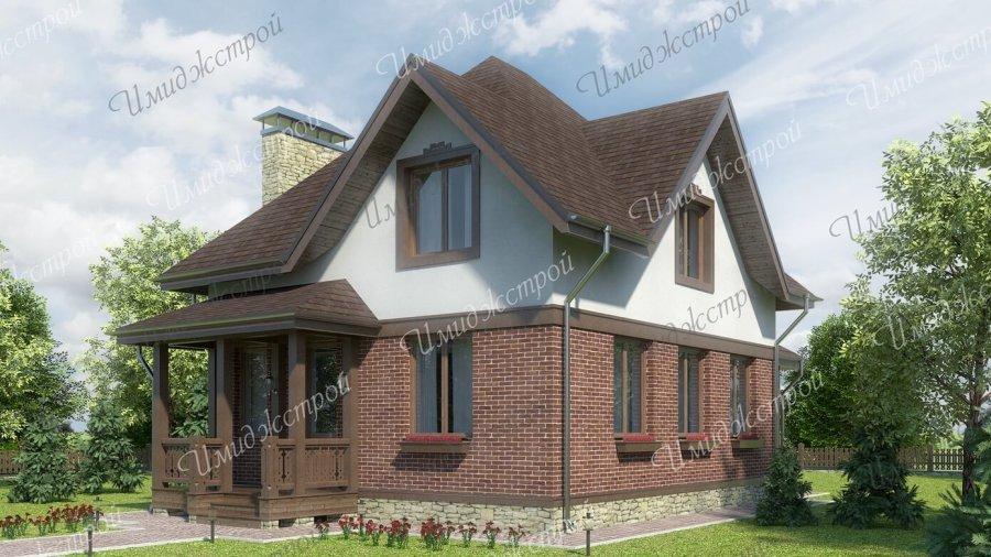 Небольшой дом с мансардой 120 кв.м