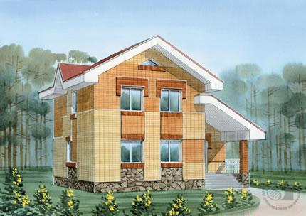 Прекрасный дом с малой площадью для большой семьи