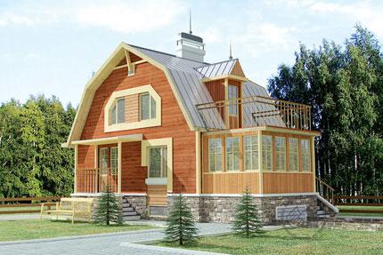 Небольшой деревянный дом для маленького участка