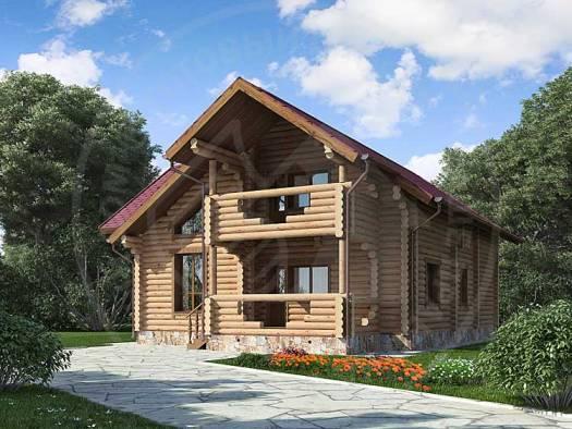 Бревенчатый дом для круглогодичного проживания