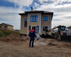 Процесс строительства двухэтажного коттеджа
