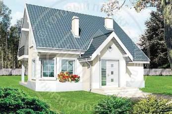 Омега - небольшой дом с треугольным эркером