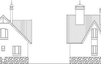 Трехуровневый коттедж из бруса