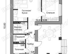 Компактный дом в европейском стиле на 84 м2 Небольшой дом на 84 м2