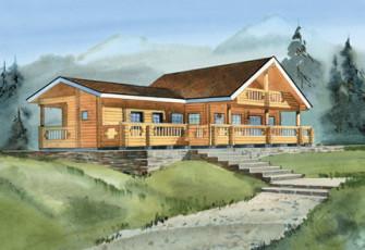 Cемейная гостиница из бревна