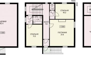 Дом с компактным планом