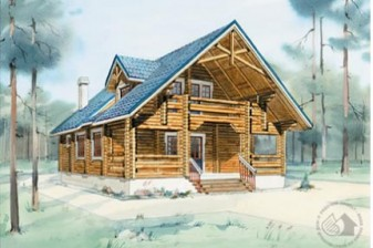Деревянный коттедж для большой семьи