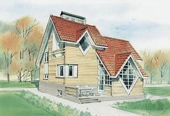 Дом с ромбовидными окнами