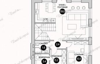 Компактный дом с мансардой на 120 м2 Дом в немецком стиле с мансардой