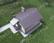 Маленький дом в немецком стиле Компактный дом на 41 м2 в немецком стиле