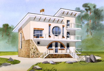 Дом с круглым окном