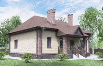 Одноэтажный дом на 80 м2 Компактный одноэтажный дом