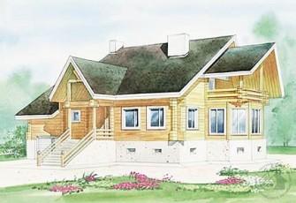 Трехэтажный дом из бруса для постоянного проживания