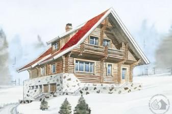 Трехуровневый особняк для горнолыжного курорта