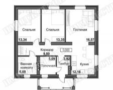 Одноэтажник 80 кв.м.