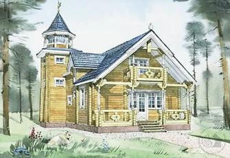 Деревянный дом часовня