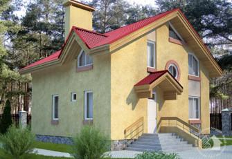 Уютный дом с эркером