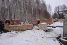 Возведение стен зимой