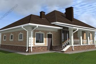 Дом в классическом стиле  168 кв.м.