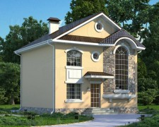 Проект дешевый дом на 123 квадрата