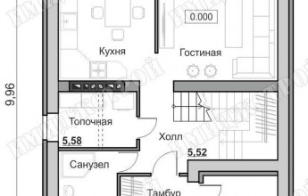Незамысловатый дом с мансардой 111 кв.м.