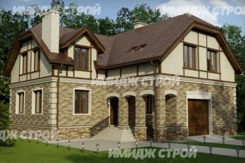 Двухэтажный дом со встроенным гаражом на один автомобиль