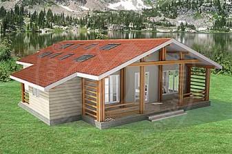 Газобетонный дом в лаконичном европейском стиле