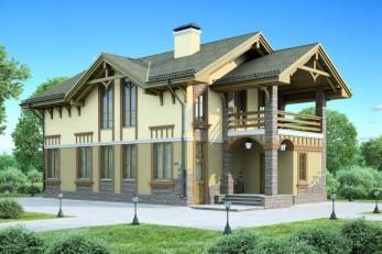 Проект дома для узкого участка  186 кв.м.