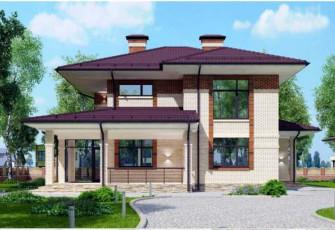 Классический дом в стиле Райта 176 кв.м.