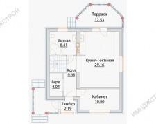 Небольшой коттедж с мансардой 121 кв.м.