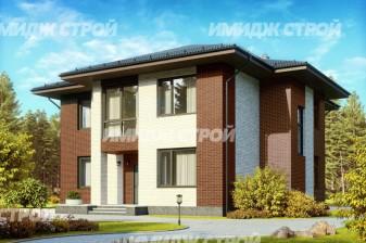 Проект двухэтажного дома из газобетона с просторной гардеробной