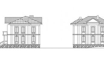 Двухэтажный особняк из газобетона с подвалом