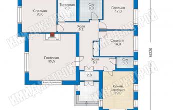 Одноэтажный коттедж в Нагаево 150 кв.м.
