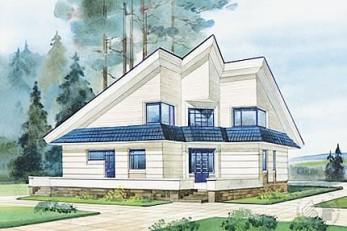 Дом с оригинальным объемно-планировочным решением