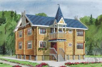 Классический европейский деревянный дом
