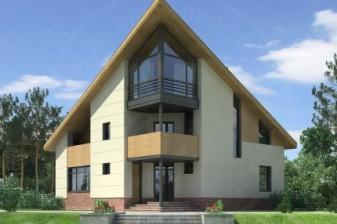 Дом с угловым решением входа