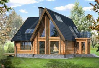Традициионный бревенчатый дом в современной интерпретации
