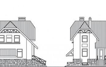 Рациональный коттедж с цокольным этажом и мансардой