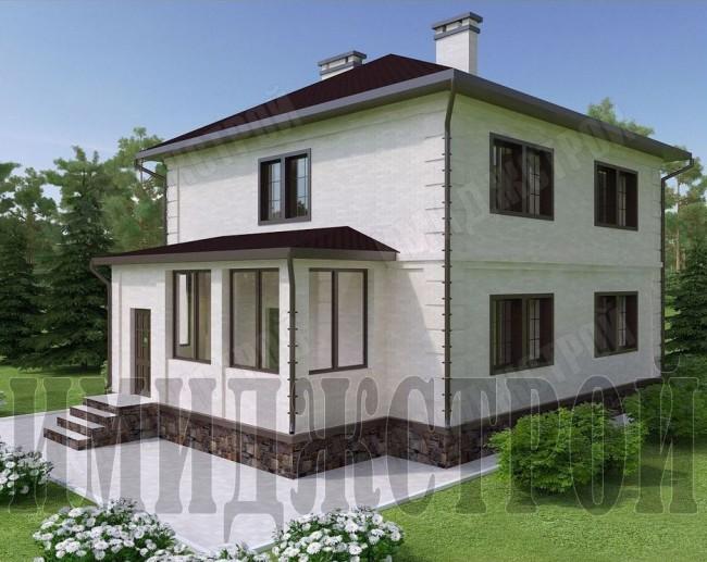 Дом с закрытой террасой 180 кв.м.