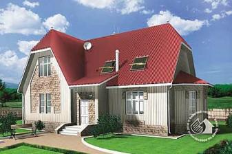 Небольшой вместительный дом из газобетона