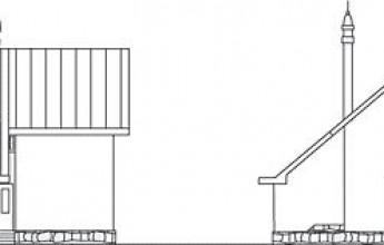 Типовой экономичный дом с резким скатом по кровле