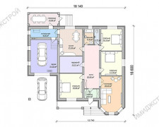 Коттедж с одним этажем 208 кв.м.