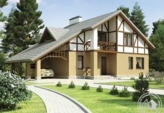 Дом с декоративным фасадом