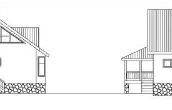 Трехуровневый коттедж из бруса со встроенным гаражом