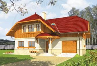 Практичный типовой проект дома Анна