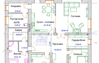 Проект дома Подмосковье 332 м2