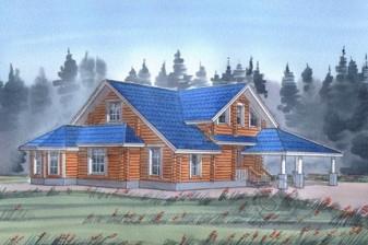 Большой дом с террасой