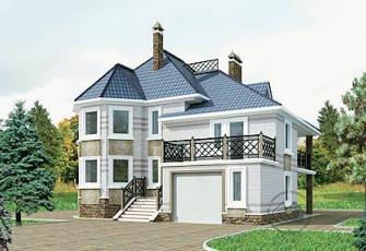 Красивый особняк со встроенным гаражом и террасой