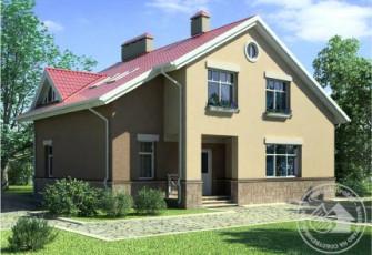 Дом с красивым навесом